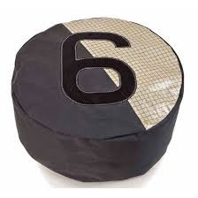 contemporary pouf fabric round with removable cover cruise