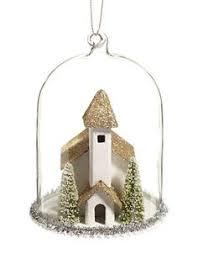 home ornaments woodland sparkle glitter scallop ornament