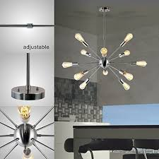Sputnik Chandelier Sputnik Chandelier 12 Lights Modern Pendant Lighting Brushed