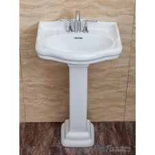 Pedestal Sink Faucet Replacement Fine Fixtures Roosevelt White Pedestal Sink Vitreous China