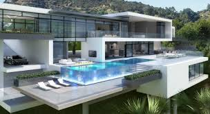 Famous Mansions Two Modern Mansions On Sunset Plaza Drive In La By Ameen Ayoub