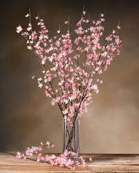 Flower Arrangements For Tall Vases Cherry Blossom Silk Flower Stems For Casual Decorating At Petals