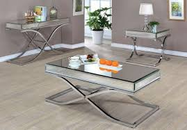 mirrored end table set modern gray mirror modern furniture glass coffee tables pertaining