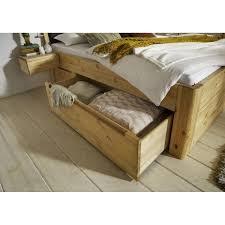 Schlafzimmer Naturholz Naturholz Schubkastenbett 180x200 Komforthöhe 49 Cm Massiv Gelaugt