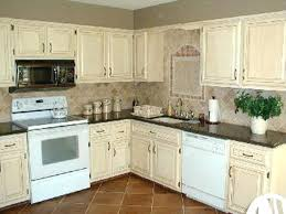rustic white kitchen cabinets image of distressed painted kitchen