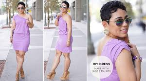 diy tutorial make a dress with two t shirts youtube