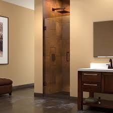 25 Shower Door Dreamline Unidoor 25 Inch Frameless Hinged Shower Door Walmart