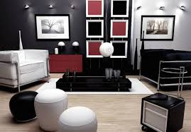 Black And White Chair And Ottoman Design Ideas Interior Impressed Black And White Living Room Ideas With Black