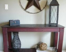 Distressed Sofa Table rustic console table distressed sofa table hand painted