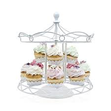 cup cake holder discount carousel cupcake stand holder white iron two tiers 12 cup