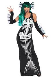 Mermaid Halloween Costume Toddler Skeleton Mermaid Women Costume Scary Costumes 2017