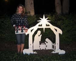 review teak isle outdoor nativity set yard nativity
