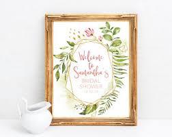 bridal shower signing plate brunch signs etsy