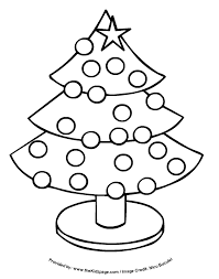 christmas tree free coloring pages for kids printable