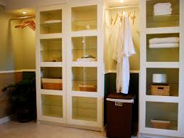 Bathrooms White Modern Bathroom With Floating Bathroom Shelves - Floor to ceiling bathroom storage cabinets