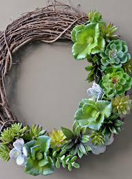 dollar store succulent wreath tutorial rachel teodoro