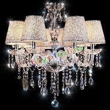 Chandelier Lamp Shades With Crystals Crystal Chandelier With Shade Ebay