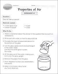 properties of air worksheet science activities for grade 5 6