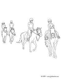 coloriages chevaux en promenade à colorier fr hellokids com