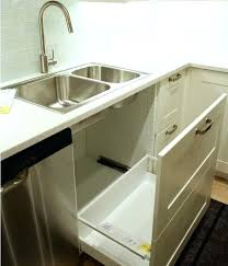 Kitchen Sink Waste Disposal The Sink Trash Can View In Gallery The Door Trashcan