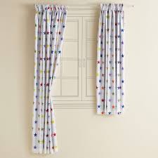 White Blackout Curtains For Nursery by Kids U0027 Blackout Curtains Rainbow Star Harbour Whitewash Bedroom