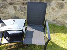 black 2 seater garden bench love seat 2 chairs with table