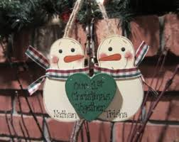 personalized snowmen couple ornament our 2nd christmas