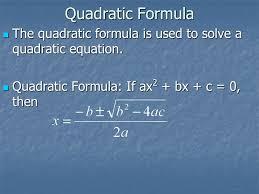 4 8 quadratic formula hw worksheet ppt download