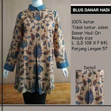 Batik Danar Hadi toko solopos blus batik danar hadi 102a