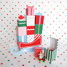 12 mini gift boxes with sleigh printable paper christmas crafts