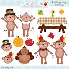 thanksgiving monkeys adorable clipart monkeys are ready for