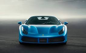 blue ferrari wallpaper blue ferrari 488 spider front view wallpaper car wallpapers 51124