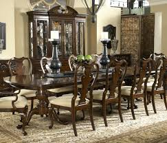 Espresso Pedestal Dining Table Oak Double Pedestal Dining Table Set Oval Base Transition In