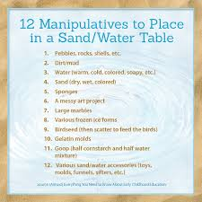 Sand Table Ideas Manipulative Ideas For Sand And Water Tables