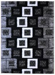 Black White Rugs Modern by Amazon Com Royal Collection Black Grey White Contemporary Design