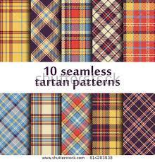 tartan pattern set 10 seamless tartan patterns stock vector 614283938 shutterstock
