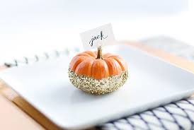 how to make diy glittered pumpkin place cards tutorial best