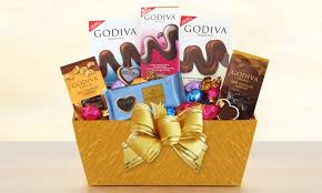 chocolate gift basket godiva chocolate gift basket gift baskets plus groupon