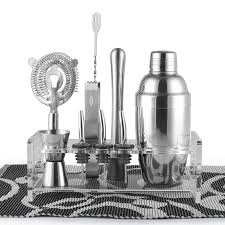 barware sets barware gift set cocktail shaker set 10 pieces includes tin