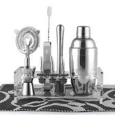 barware sets barware gift set cocktail shaker set 10 pieces includes tin