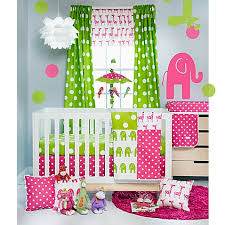 Pink And Green Crib Bedding Glenna Jean Ellie Stretch Crib Bedding Collection In Pink Green