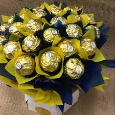 chocolate flowers eagles ferreo rocher bouquet a touch of class florist