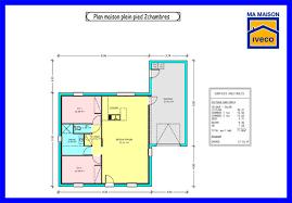 plan maison une chambre maison 2 chambre salon cuisine