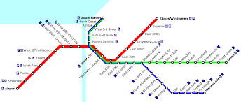 Cleveland State Map by Rapid Transit Cleveland Metro Map United States
