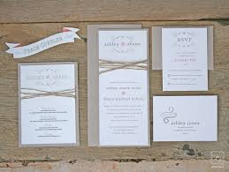 rustic twine wedding invitation set sle - Wedding Invitation Set