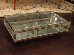 coffee table coffee table with beveled glass top display case