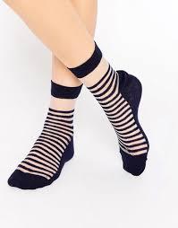 halloween knee socks image 1 of asos bretton stripe sheer ankle socks treat yo self