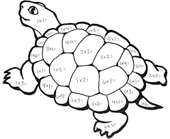 multiplication turtle math coloring pages for bebo pandco