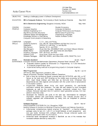 student resume sle 10 computer science cv cv sle