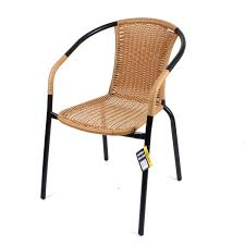 Rattan Bistro Chairs Yellow Rattan Garden Chair Aluminium Bistro Chairs Amazon Co Uk